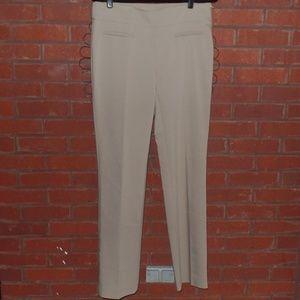 Ann Taylor Khaki Career Pants Slacks Flat Front 8